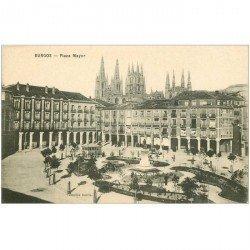 carte postale ancienne Espagne. BURGOS. Plaza Mayor