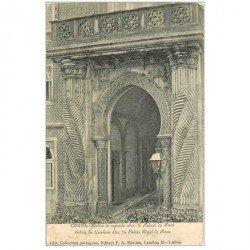 carte postale ancienne Espagne. CINTRA. Portico do segundo atric do Palacio da Pena vers 1900 timbre manquant