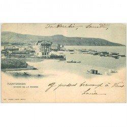 carte postale ancienne Espagne. FUENTERRABIA. Barrio de la Marina 1903