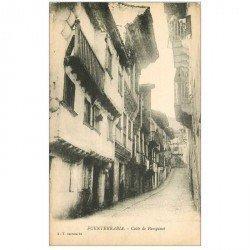 carte postale ancienne Espagne. FUENTERRABIA. Calle de Pampinot
