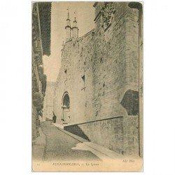 carte postale ancienne Espagne. FUENTERRABIA. La Iglesia vers 1900