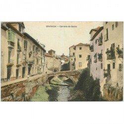 carte postale ancienne ESPAGNE. Granada. Carrera de Darro