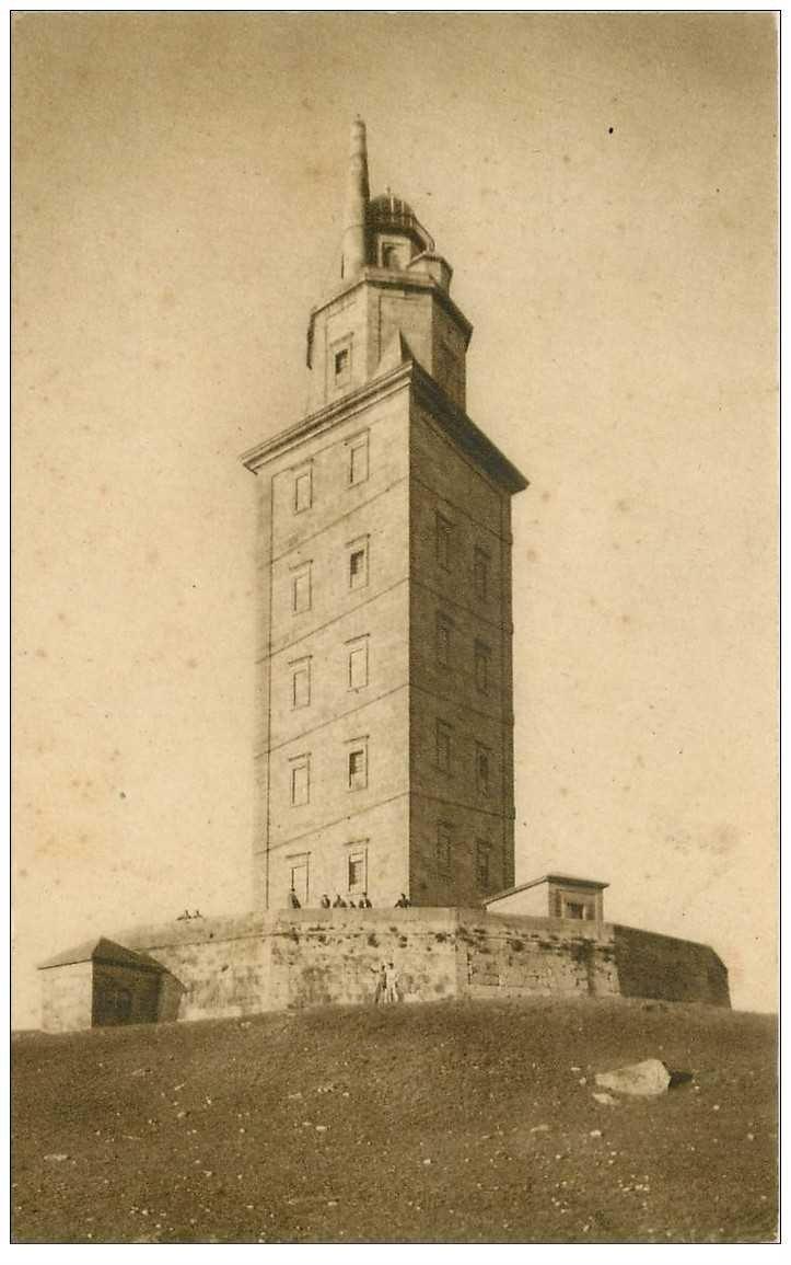 carte postale ancienne Espagne. LA CORUNA. Torre de Hércules 1946