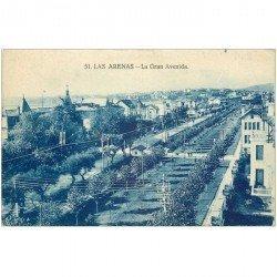 carte postale ancienne Espagne. LAS ARENAS. La Gran Avenida