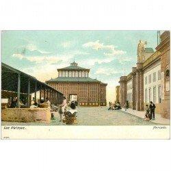 carte postale ancienne Espagne. LAS PALMAS. Mercado vers 1900