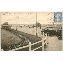 carte postale ancienne 14 RIVA-BELLA. Voitures anciennes sur Pelouses 1930