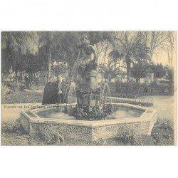 carte postale ancienne ESPAGNE. Malaga. Fuente en los Jardines del Parque