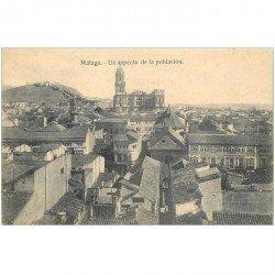 carte postale ancienne Espagne. MALAGA. Un aspecto de la poblacion