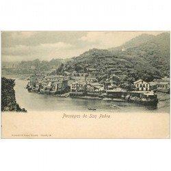 carte postale ancienne Espagne. Passages de San Pedro vers 1900