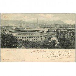 carte postale ancienne Espagne. SAN SEBASTIAN. Plaza de Toros 1903