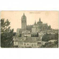 carte postale ancienne Espagne. SEGOVIA. La Catedral