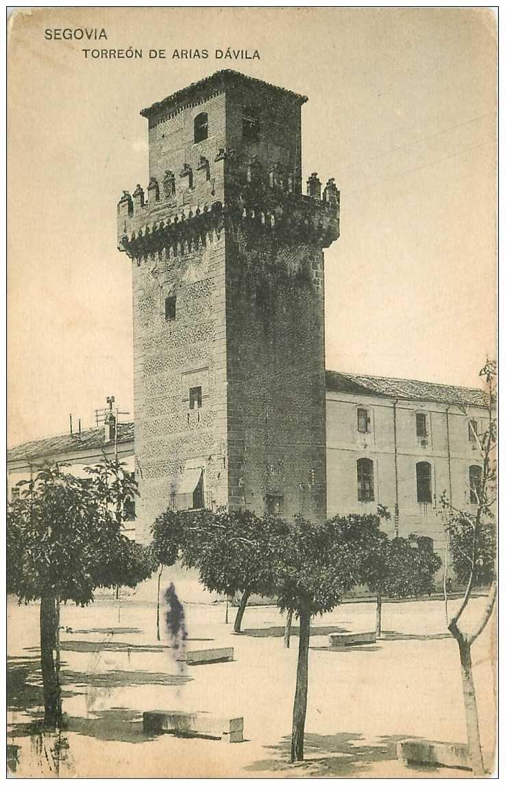 carte postale ancienne Espagne. SEGOVIA. Torreon de Arias Davila 1923