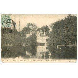 carte postale ancienne 14 SAINT-ANDRE DE FONTENAY. Le Petit Moulin. Coins inf. bisautés
