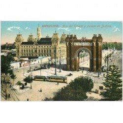carte postale ancienne Espagne. SEVILLA. Lalacio de Justicia y Arco del Triunfo