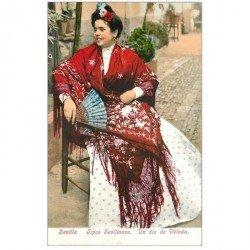 carte postale ancienne ESPAGNE. Sevilla. Tipo Sevillanos un dia de Velada. Collection Sanz n° 46