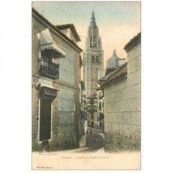 carte postale ancienne Espagne. TOLEDO. Calle de Santa Isabel