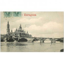 carte postale ancienne Espagne. ZARAGOZA 1913