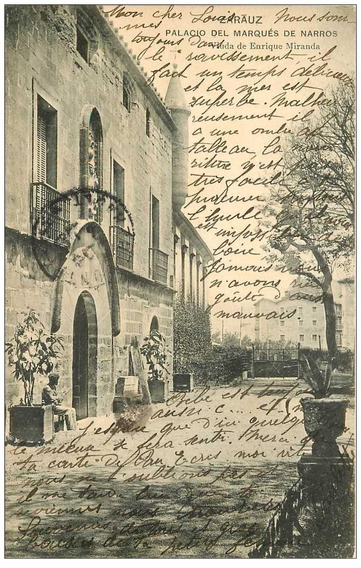 carte postale ancienne Espagne. ZARAUZ. Palacio del Marques de Narros 1904