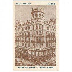 carte postale ancienne MADRID. Hotel Barazal Avenida José Antonio