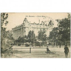 carte postale ancienne MADRID. Hotel Ritz 1919