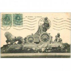 carte postale ancienne MADRID. La Cibeles 1914