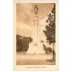 carte postale ancienne MADRID. Monumento al Sagrado Corazon