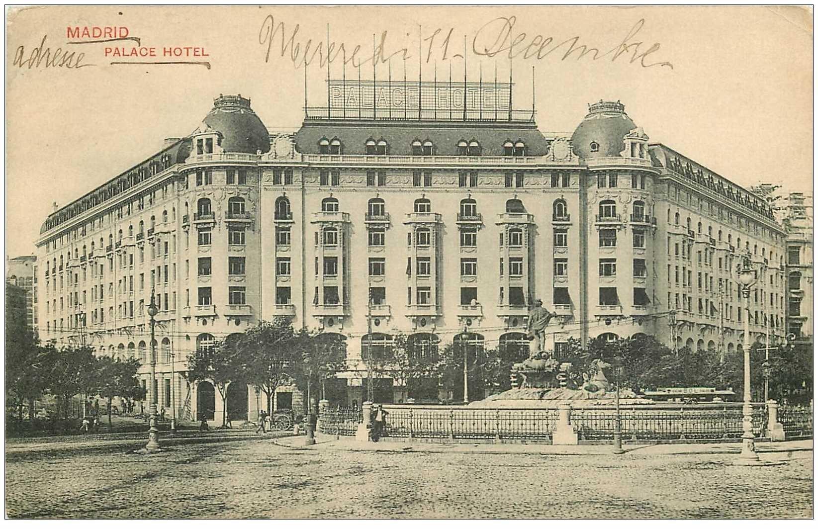 carte postale ancienne MADRID. Palace Hotel 1912