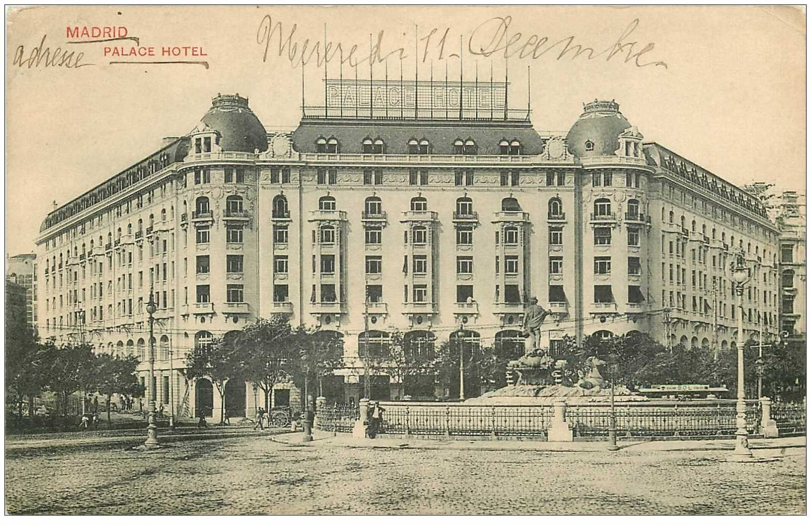 carte postale ancienne MADRID. Palace Hotel 1912