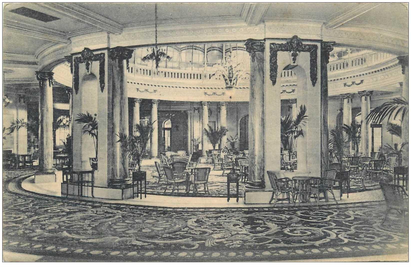 carte postale ancienne MADRID. Palace Hotel Jardin de invierno