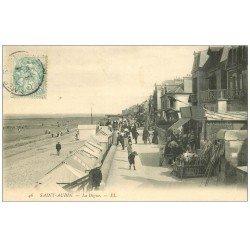 carte postale ancienne 14 SAINT-AUBIN. La Digue LL46 1906