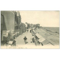 carte postale ancienne 14 SAINT-AUBIN. La Digue LL9