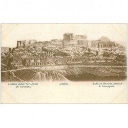 carte postale ancienne GRECE. Athènes. Acropole Thétre Hérode Atticus