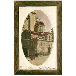 carte postale ancienne GRECE. Athènes. Saint Eleuthère. Superbe carte en relief...