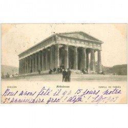 carte postale ancienne GRECE. Athènes. Temple de Thésée 1903