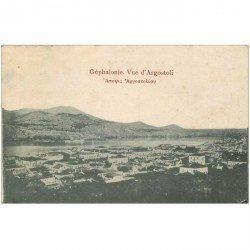 carte postale ancienne GRECE. Géphalonie vue d'Argostoli 1918