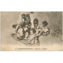carte postale ancienne GRECE. Macédoine Florina. Tziganes 1918