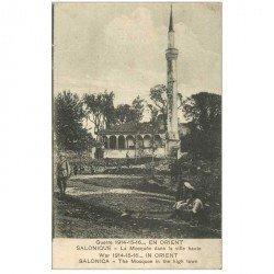 carte postale ancienne GRECE. Salonique Salonica la Mosquée vers 1918