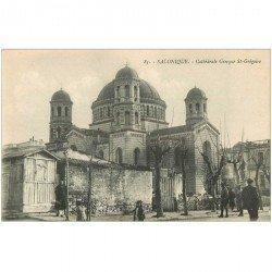 carte postale ancienne GRECE. Salonique Salonica. Cathédrale Grecque Saint Gregoire
