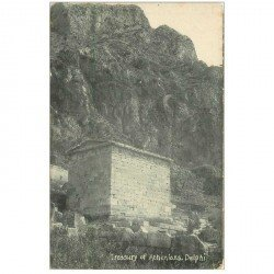 carte postale ancienne GRECE. Treasury of Athenians Delphi