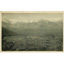 carte postale ancienne BOLZANO. Panorama di Merano col gruppo di Tessa