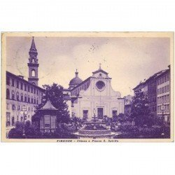 carte postale ancienne FIRENZE. Chiesa Piazza S. Spirito 1934 FLORENCE
