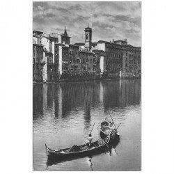 carte postale ancienne FIRENZE. Veduta dell'Arno con Pescatori FLORENCE
