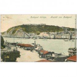 carte postale ancienne HONGRIE. Budapest Ansicht vers 190. Un trou de punaise