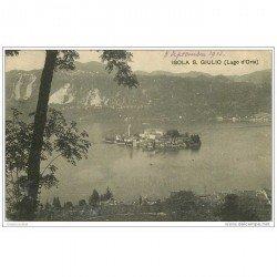 carte postale ancienne ISOLA DI S. GIULIO. Lago d'Orta 1912