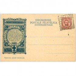 carte postale ancienne Italia Italie. MILANO. Esposizione postale Filatelica internazionale 1906
