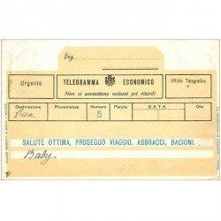 carte postale ancienne Italia Italie. PISA carte en forme de telegramma economico