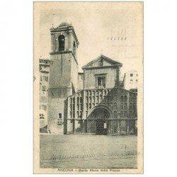 carte postale ancienne ITALIA. Ancona. Santa Maria della Piazza
