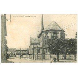 carte postale ancienne 14 SAINT-AUBIN. L'Eglise