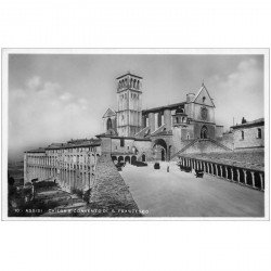 carte postale ancienne ITALIA. Assisi. Chiesa Convento S. Francesco carte photo