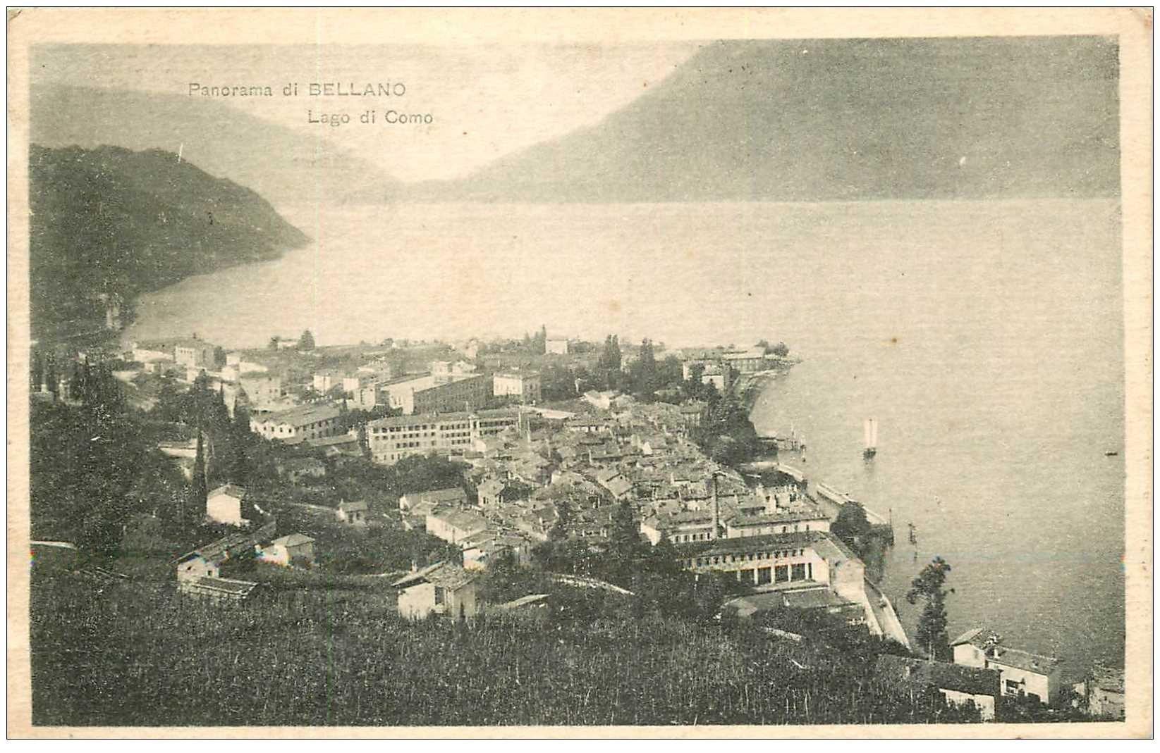 carte postale ancienne ITALIA. Bellano. Lago di Como 1927
